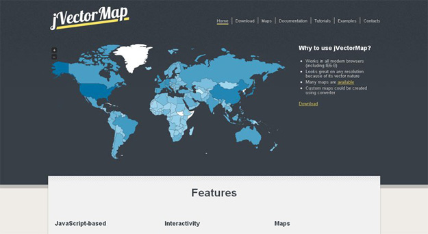 20 jquery map plugins for building interactive maps bestdevlist jvectormap is a jquery plugin employed to show vector maps and visualize data on html pages it uses svg in all modern browsers like firefox 3 or 4 safari sciox Choice Image