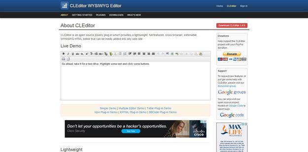 jQuery WYSIWYG Editors for Developers - BestDevList