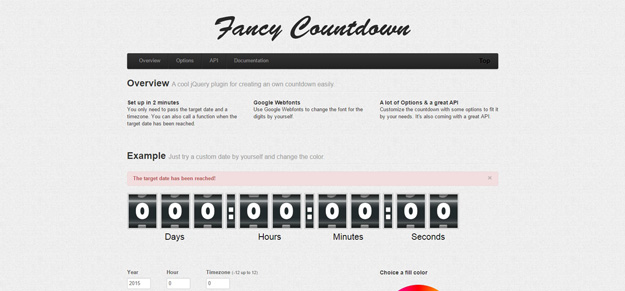 25 jQuery Countdown Timer Plugins for Your Next Projects - BestDevList