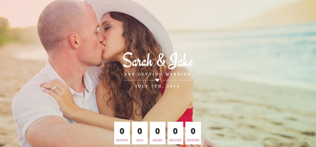 html wedding website templates for designers