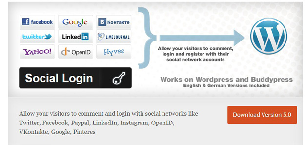 12 Best WordPress Social Login Plugins - BestDevList