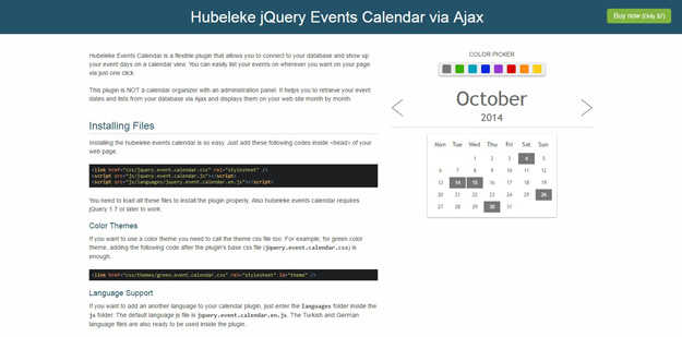 Event Calendar Jquery : Best jquery calendar plugins for your websites