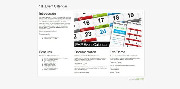 best online event calendar design - Calendar