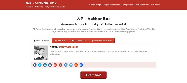 Best WordPress Author Bio Plugins - BestDevList